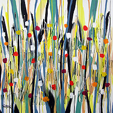 Lollypop Garden by Lynne Taetzsch (Acrylic Painting)