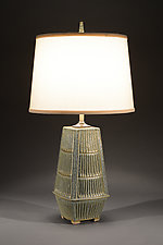 Atomic Step Lamp by Jim and Shirl Parmentier (Ceramic Table Lamp)