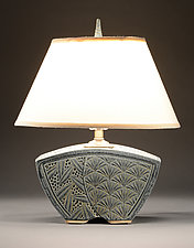 Keystone Lamp with Deco Carving by Jim and Shirl Parmentier (Ceramic Lamp)