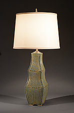 Sage Three-Tiered Lamp by Jim and Shirl Parmentier (Ceramic Table Lamp)