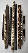 Nine Wall Piece Sticks - Studio Sample by Kelly Jean Ohl (Ceramic Wall Sculpture)