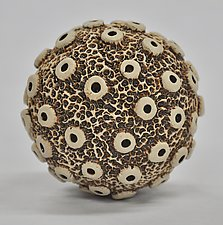 Knobby Ceramic Ball Rattle by Kelly Jean Ohl (Ceramic Sculpture)