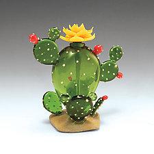 Cactus Perfume Bottle by Garrett Keisling (Art Glass Perfume Bottle)