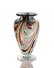 Southwestern Feathered Vase by The Glass Forge (Art Glass Vase)