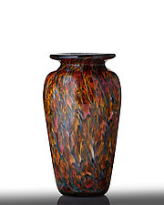 Yosemite Bronze Vase by The Glass Forge (Art Glass Vase)
