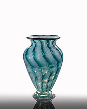 Seafoam Lagoon Vase by The Glass Forge (Art Glass Vase)