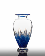 Great Wave Flat Vase by The Glass Forge (Art Glass Vase)