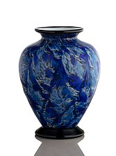 Cobalt Blue Classic Urn by The Glass Forge (Art Glass Vase)