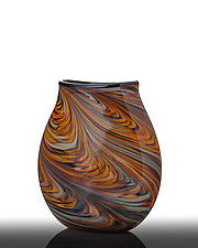 Southwest Pouch Vase by The Glass Forge (Art Glass Vase)
