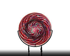 Small Ruby Platter by The Glass Forge (Art Glass Platter)