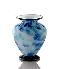 Glacier Ice Squat Vase by The Glass Forge (Art Glass Vase)