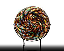 Rainbow Cathedral Platter by The Glass Forge (Art Glass Platter)