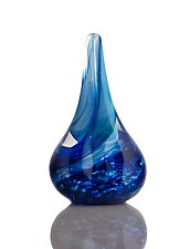 Blue Twist by The Glass Forge (Art Glass Paperweight)