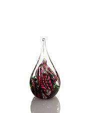 Dragon Tail Flame Weight by The Glass Forge (Art Glass Paperweight)