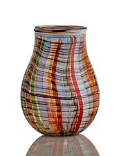 Colorado Desert Basket Vase by The Glass Forge (Art Glass Vase)