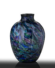 Northwestern Sky Vase by The Glass Forge (Art Glass Vase)