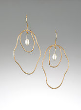 Imperfection with Pearls by Lonna Keller (Gold & Pearl Earrings)