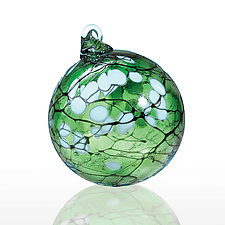 Jade Blossom by Thomas Kelly (Art Glass Ornament)