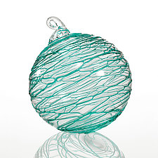 Serpentine Sea by Thomas Kelly (Art Glass Ornament)