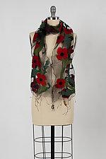 Poppy Scarf by Barbara Poole (Silk & Wool Scarf)