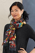 Confetti Scarf by Barbara Poole (Silk & Wool Scarf)