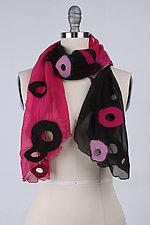Chiffon Holey Scarf by Barbara Poole (Silk & Wool Scarf)