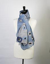 Merino Holey Scarf by Barbara Poole (Wool Scarf)