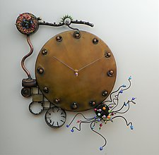 Biological Clock by Mary Ann Owen and Malcolm  Owen (Metal Clock)
