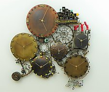 Love in a Time of Chaos by Mary Ann Owen and Malcolm  Owen (Metal Wall Clock)