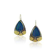 Opal Wing Earrings by Jenny Reeves (Gold, Silver & Stone Earrings)