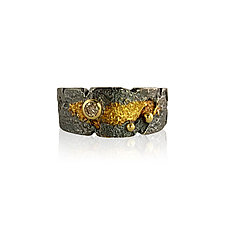 Stardust Band by Jenny Reeves (Gold, Silver & Diamond Ring)