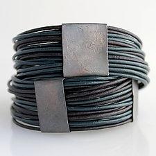 Organica Wrap Bracelet #3 by Jennifer Bauser (Leather Bracelet)