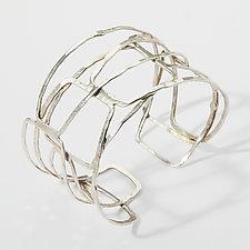 Organica Cuff Bracelet #12 by Jennifer Bauser (Silver Bracelet)
