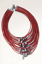 Organica Leather Necklace #11 by Jennifer Bauser (Leather Necklace)