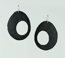 Moderna #15 Gray Earrings by Jennifer Bauser (Bronze Earrings)