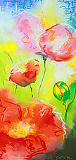 Floral Abstraction No.2 by Jennifer Bauser (Oil Painting)