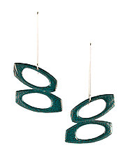 Moderna #6 Earrings by Jennifer Bauser (Bronze Earrings)