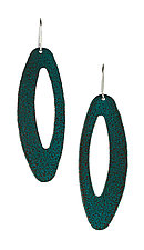 Moderna #20 Green Earrings by Jennifer Bauser (Bronze Earrings)