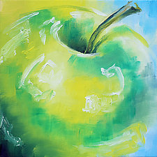 Green Apple No.17 by Jennifer Bauser (Oil Painting)