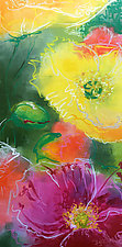 Floral Abstraction No.5 by Jennifer Bauser (Oil Painting)
