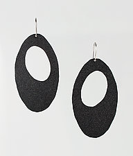 Moderna #10 Gray Earrings by Jennifer Bauser (Bronze Earrings)