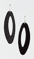 Moderna #20 Black Earrings by Jennifer Bauser (Bronze Earrings)