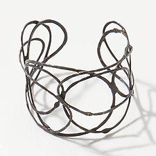 Organica Cuff #5 by Jennifer Bauser (Silver Bracelet)