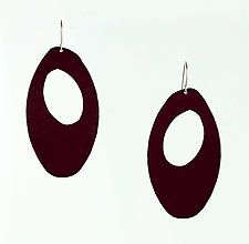 Moderna #10 Eggplant Earrings by Jennifer Bauser (Bronze Earrings)
