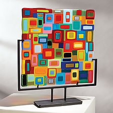 Large Carnival Panel by Helen Rudy (Art Glass Sculpture)
