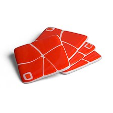 Channel Coasters by Helen Rudy (Art Glass Coasters)