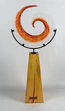 Swirl by Helen Rudy (Art Glass Sculpture)