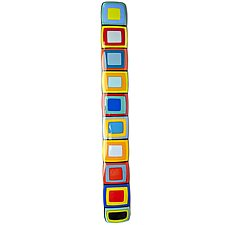 Carnival Story Pole with Colorful Centers by Helen Rudy (Art Glass Wall Sculpture)