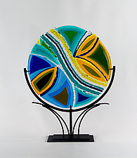 Islands by Helen Rudy  (Art Glass Sculpture)