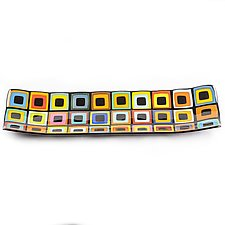 Liquorice Allsorts Style Tray by Helen Rudy (Art Glass Platter)